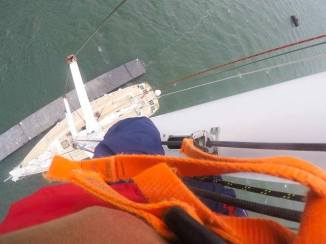 The view from up the mast