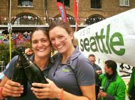 Onto the Champagne with Chief Cheese love and Whale spotter, Lucy