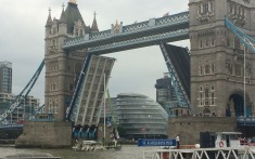 Through Tower Bridge the first time